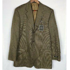 Brown Silk Wool Sports Coat Blazer Size 40Long
